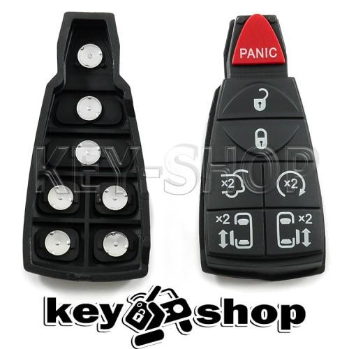 Кнопки для (нового) смарт ключа Chrysler (Крайслер) 6 кнопок + 1 (panic)