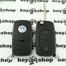 Корпус выкидного авто ключа для VOLKSWAGEN Golf, Passat B5 (Фольксваген Гольф, Пассат Б5) 2 - кнопки
