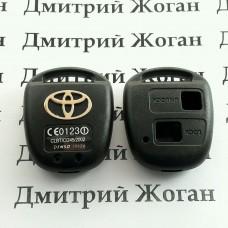 Корпус автоключа для TOYOTA (тойота) 2 кнопки , без лезвия (под установку родного)