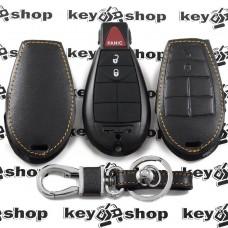 Чехол (кожаный) для смарт ключа Jeep (Джип) 2 кнопки