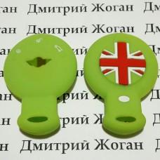 Чехол (зеленый, силиконовый) для смарт ключа Mini (Мини) 3 кнопки