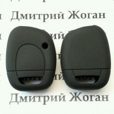 Чехол (черный, силиконовый) для авто ключа RENAULT (Рено) 1 кнопка