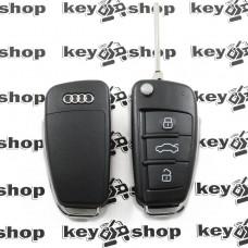 Корпус выкидного авто ключа для Audi А6, Q7 (Ауди А6, Q7) 3 кнопки, лезвие HU66