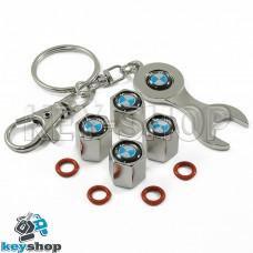 Набор колпачков для ниппеля (хромированные) с логотипом BMW (БМВ)