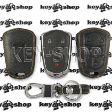 Чехол (кожаный) для смарт ключа Cadillac (Кадиллак) 4 кнопки + 1