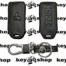 Чехол (кожаный) для смарт ключа Mitsubishi (Митсубиси) 3 кнопки