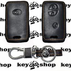 Чехол (кожаный) для смарт ключа Бид (BYD) 3 кнопки
