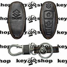 Чехол (кожаный) для смарт ключа Suzuki (Сузуки) 2 кнопки