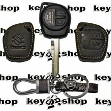 Чехол (кожаный) для авто ключа Suzuki (Сузуки) 2 кнопки