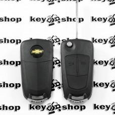 Выкидной ключ для Chevrolet Captiva 2010 - 2012гг (Шевроле Каптива) 2 кнопки, ID46 / 433 MHZ, лезвие DWO5