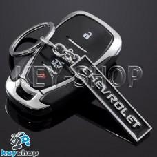 Металлический (черный) брелок для авто ключей CHEVROLET (Шевролет)