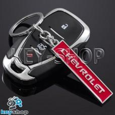 Металлический (красный) брелок для авто ключей CHEVROLET (Шевролет)