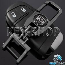 Брелок для ключа Dodge (Додж), (темный хром), с карабином