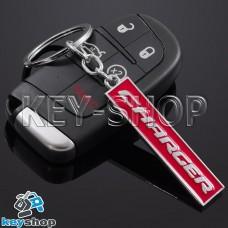 Металлический (красный) брелок для авто ключей Dodge Charger (Додж Чарджер)