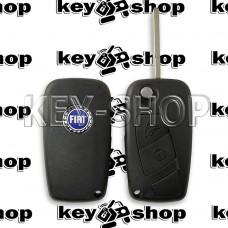 Корпус выкидного ключа FIAT Bravo, Doblo, Dukato, Scudo, Fiorino (Фиат) 2 кнопки (1 глухая) крепление батареи сбоку