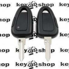 Корпус автоключа для Fiat (Фиат) 1 - кнопка, с лезвием GT15