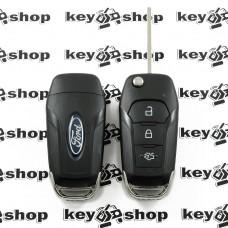 Выкидной ключ для FORD (Форд)  3 кнопки, после 2014г. с чипом 49 Philips HTPRO (PCF7953) / 433MHz