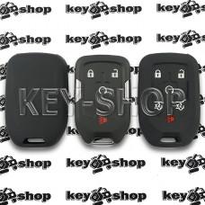 Чехол силиконовый смарт ключа GMC (ДжиЭмСи) (черный) 5 + 1 кнопки