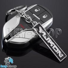 Металлический (черный) брелок для авто ключей  GMC Yukon (ДжиЭмСи Юкон)