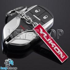 Металлический (красный) брелок для авто ключей GMC Yukon (ДжиЭмСи Юкон)