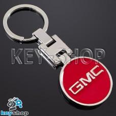 Металлический (красный) брелок для авто ключей GMC (ДжиЭмСи)