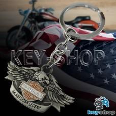 Металлический брелок для ключей с логотипом Harley - Davison (Харли - Дэвидсон) с орлом