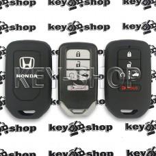 Чехол смарт ключа Honda (Хонда) черный, силиконовый,  4 + 1 кнопки