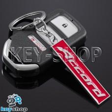 Металлический (красный) брелок для авто ключей Honda Accord (Хонда Аккорд)