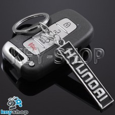 Металлический (черный) брелок для авто ключей  Хундай (Hyundai)