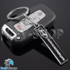 Металлический (черный) брелок для авто ключей Hyundai Grandeur (Хундай Грандер)