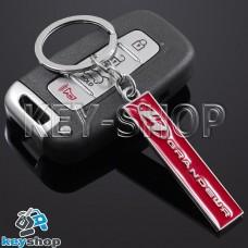 Металлический (красный) брелок для авто ключей Hyundai Grandeur (Хундай Грандер)