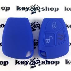 Силиконовый чехол для ключа мерседес (MERCEDES) 3 кнопки
