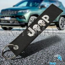 Брелок для ключа Jeep (Джип), черный, с кольцом (текстиль)