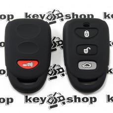 Чехол (черный, силиконовый) пульта для KIA (КИА) 3 +1 кнопки