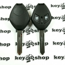 Корпус авто ключа для Mitsubishi (Митсубиси) 2 - кнопки, лезвие MIT9
