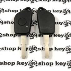 Корпус ключа для Peugeot (Пежо) 406, 1 кнопка, лезвие NE78