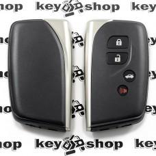 Корпус смарт ключа для Lexus (Лексус) 3 + 1 кнопки, с лезвием