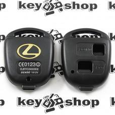 Корпус авто ключа для Lexus (Лексус) 2 кнопки , без лезвия (под установку родного)