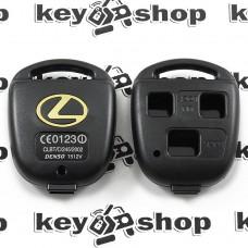 Корпус авто ключа для Lexus (Лексус) 3 кнопки , без лезвия (под установку родного)