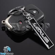 Металлический (черный) брелок для авто ключей LEXUS (Лексус)