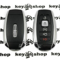 Оригинальный смарт ключ для  Lincoln (Линкольн), MKZ, MKC, Continental 2017-2019,4 + 1 кнопки, чип ID 49 (Hitag Pro), 902 MHz