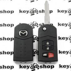Корпус выкидного ключа Mazda (Мазда) 3 + 1 (panic)  кнопки