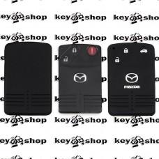 Чехол (черный, силиконовый) для смарт карты Mazda (Мазда) 3 кнопки