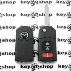 Корпус выкидного ключа Mazda (Мазда) 2 + 1 (panic)  кнопки