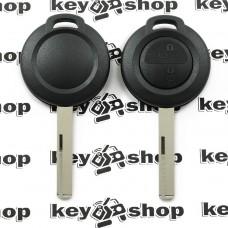Корпус авто ключа для Mercedes Smart Forfour (Мерседес Смарт) 2 кнопки