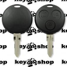 Корпус смарт ключа Mercedes  (Мерседес)  3 кнопки с двумя отверстиями под лампочки