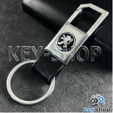 Металлический брелок для авто ключей Пежо (Peugeot)