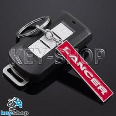 Металлический (красный) брелок для авто ключей Mitsubishi Lancer (Митсубиси Лансер)