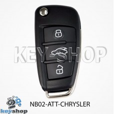 Ключ заготовка (NB02 - ATT - CHRYSLER) для программатора KD900, KD900+, KD mini