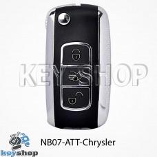 Ключ заготовка (NB07 - ATT - Chrysler) для программатора KD900, KD900+, KD mini